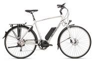 E-Bike 28 Trekking SST 400 Herren Alu 10Gg DEORE RH 57 cm Farbe silver  STePS 6000Gabel Suntour NEX  LO 63mm RH 57 cm Farbe silver  STePS 6000Gabel Suntour NEX  LO 63mm