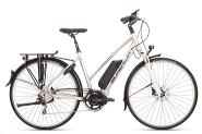 E-Bike 28 Trekking SST 400 Damen Alu 10Gg DEORE RH 50 cm Farbe silver  STePS 6000Gabel Suntour NEX  LO 63mm RH 50 cm Farbe silver  STePS 6000Gabel Suntour NEX  LO 63mm