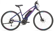 E-Bike Cross 28 Cross Ride e500 Damen Alu 9Gg RH 17,0 Zoll Farbe blue-pink-blue 9Gg Shi DeoreFedergabel Suntour Nex  STePS 6000 Antrieb RH 17,0 Zoll Farbe blue-pink-blue 9Gg Shi DeoreFedergabel Suntour Nex  STePS 6000 Antrieb