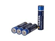 Batterie Varta Longlife Power Micro LR03 4 Stück, Alkaline, 1,5V, AAA, MN2400