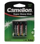 Batterie Camelion Green Micro R03 4 Stück, Zink-Chlorid, 1,5V 550 mAh, AAA