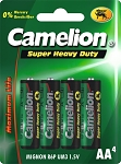 Batterie Camelion Green Mignon R06 4 Stück, Zink-Chlorid, 1,5V 1220 mAh, AA