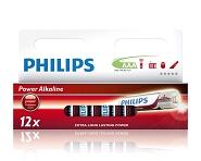 Batterie Philips Power Alkal. Micro LR03 Alkaline, 1,5 V, AAA,1x=ein 12er Blister