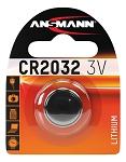 Batterie Ansmann Knopfzelle CR2032 Lithium, 3V, Mindestabnahme VE 10 Stück
