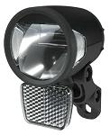Frontscheinwerfer Herrmans H-Black MR8 D Dynamo, schwarz, on/off Standlicht