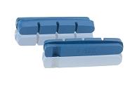 XLC Ersatzbremsgummi BS-X01 4er Set, 55mm, für Carbonfelgen blau