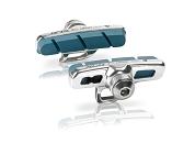 XLC Cartridge Road Bremsschuhe Campa 4er Set, 50mm, silber/blau für Carbon