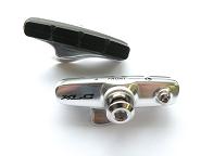 XLC Cartridge Road Bremsschuhe BR-R02 4er Set, 55mm,silber/blau für Carbon