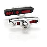 XLC Cartridge Road Bremsschuhe BS-R04 4er Set, 55mm, silber/schwarz/rot, ABS