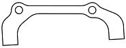 Scheibenbremsadapter Avid IS 30 f. HR 170mm, inkl. Schrauben