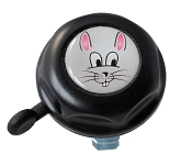 Kinderglocke Reich  Hase Doming Label schwarz  Ø 55mm, SB-Karte