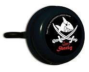 Fahrradglocke Capt`n Sharky schwarz, mit Motiv, Ø 55mm, SB-Karte