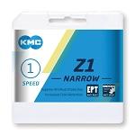 """Kette KMC Z1 Narrow EPT für Nabensch. 1/2 x 3/32"""", 112 Glieder, 7,3mm. silber"""