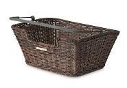 Hinterrad-Korb Basil Capri Flex 40x31x18cm, braun, Rattan, feinmaschig