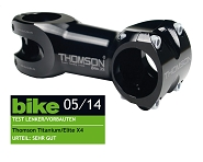 "A-Head Vorbau Thomson Elite X4 schwarz 1-1/8"" x 0° x 80mm x 31,8mm Lenkerkl."