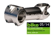 "A-Head Vorbau Thomson Elite X4 silber 1-1/8"" x 0° x 130mm x 31,8mm Lenkerkl."