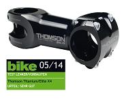 "A-Head Vorbau Thomson Elite X4 schwarz 1-1/8"" x 10° x 130mm x 31,8mm Lenkerkl."