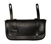 Sattel-Anhängetasche Westphal 26 schwarz, Kunststoff mit Riemenverschluss