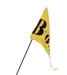 Wimpel für BOB gelb zweiteilig FL9600 für BOB-Anhänger