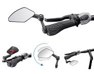 Fahrradspiegel Krampe KF Cross Typ B Innenklemmung schwarz