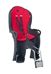 Kindersitz Hamax Kiss schwarz/rot Befestigung Rahmenrohr