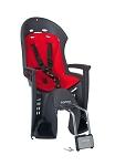 Kindersitz Hamax Smiley grau/rot Befestigung Rahmenrohr abschließbar