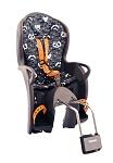 Kindersitz Hamax Kiss grau/orange mit Muster, Bef. Rahmenrohr