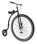 """Hochrad QU-AX Gentlemenbike 36"""" schwarz 36"""" schwarz"""
