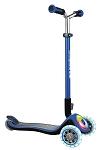 Scooter Globber Elite Prime navy-blau mit Leuchtrollen u.Leuchtdeck
