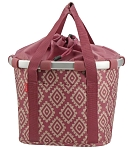 City-Tasche KLICKfix  Bikebasket diamonds rouge, 35x28x26cm