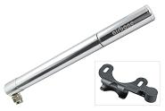 Minipumpe Airbone ZT-507 AV, 245mm, silber, inkl. Halter