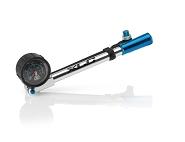 XLC Suspension Pumpe HighAir Pro PU-H03 Präzisionsmanometer und Schlauch si/blau