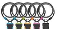 Vorhangkabelschloss Onguard Neon 8241 1200xØ10mm, Ø 8mm, farbl. sort. VE6