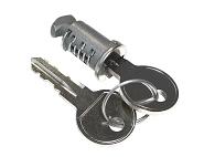 Schloss mit Schlüssel für Kupplungsträger Peruzzo