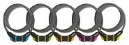 Spiralkabelschloss Combo Onguard Neon 8159 180cm, Ø 12mm, farbl. sortiert VE10