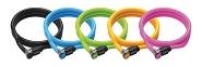 Spiralkabelschloss Onguard Lightweight 8194 1500x Ø 8mm, farbl sort. VE10 Combo
