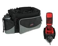 Gepäckträgertasche Haberland FlexibagTop schwarz/grau, 40x22x24cm, 20ltr, UniKlip