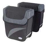 Doppeltasche Haberland Trend M schwarz/silber, 27x31x11cm, 18 ltr