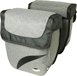 Doppeltasche Haberland Trend M Grey Deluxe, 27x31x11cm, 18 ltr