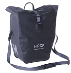 Fahrrad-Gepäcktasche Hock Rain-Pack schwarz/grau