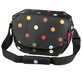 Schulter-Tasche KLICKfix Fun Bag dots, 25x19x8cm, ohne Lenkeradapter