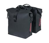 Doppelpacktasche Basil SoHo Nordlicht schwarz, 31x13x37cm