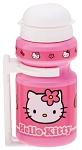 Trinkflasche Hello Kitty 300ml, mit Halter, pink, Kappe weiß
