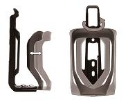 Trinkflaschenhalter Point verstellbar schwarz/schwarz