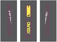 Dekor Xduro f.Batterieskidplate HB-S12 gelb+HB-S03 titan,2018