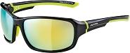 Sonnenbrille Alpina Lyron Rahmen sw/neon gelb Glas gelb versp.S3