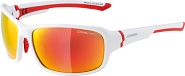 Sonnenbrille Alpina Lyron Rahmen weiß matt/rot Glas rot versp.S3