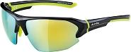 Sonnenbrille Alpina Lyron HR Rahmen sw/neon gelb Glas gelb versp.S3