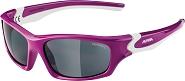 Sonnenbrille Alpina Flexxy Teen Rahmen berry/weiß Glas sw versp.S3