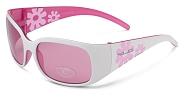 XLC Kinder-Sonnenbrille Maui SG-K03 Rahmen weiß/pink Gläser pink